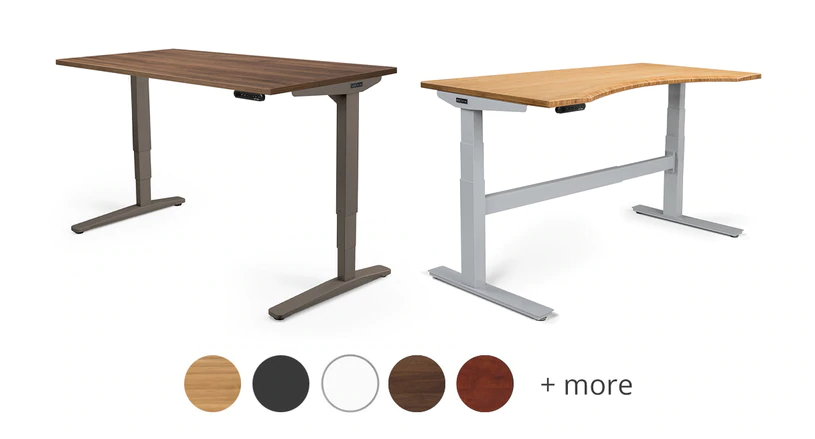 UPLIFT Standing Desk is fully customizable to match your overall home decor available in different sizes and frame quality to suit your needs