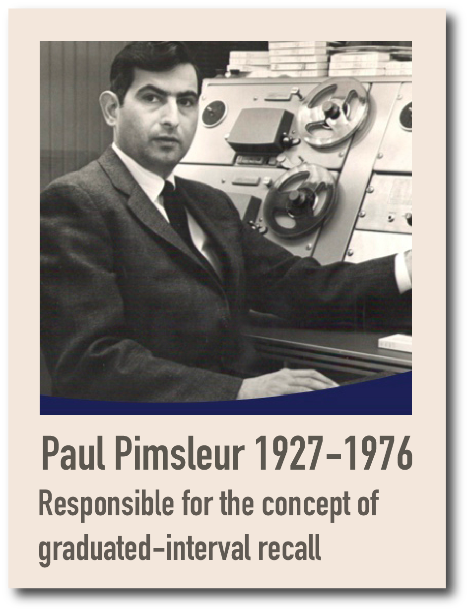 Paul Pimsleur and the concept pf graduated-interval recall