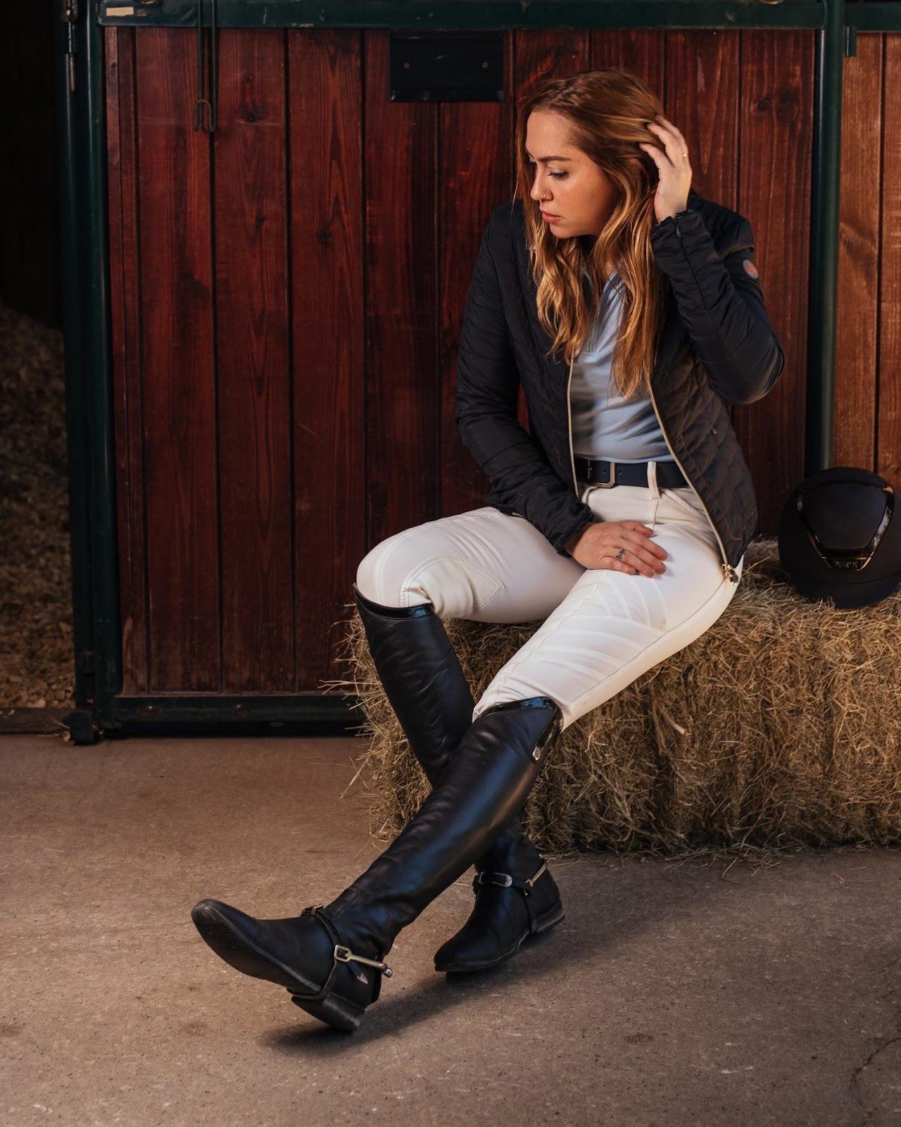 women wearing riding boots