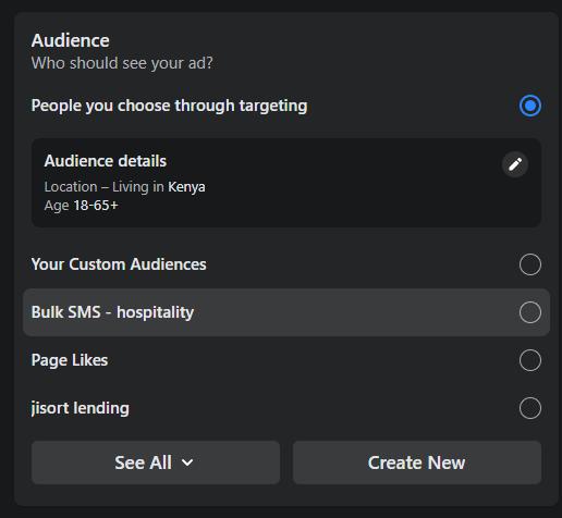 choosing audience