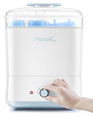 Best All-In-One Baby Bottle Sterilizer: Papablic Steam Sterilizer and Dryer.