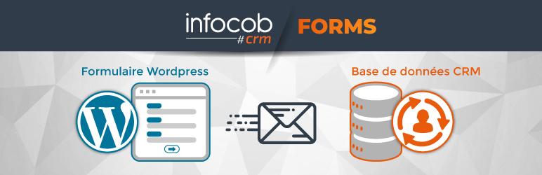 Schéma explicatif du fonctionnement de l'envoi des leads et demandes issus des formulaires présents sur le site wordpress vers la base de données du CRM