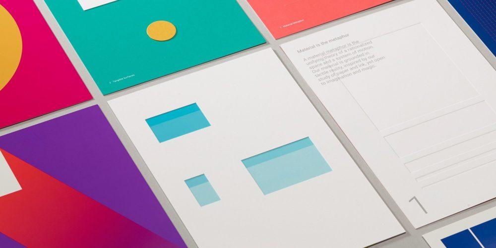 Flat Design → Material Design
