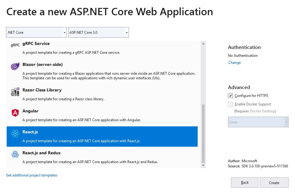 How to add Authentication to React app using Asp Net Core 3 in
