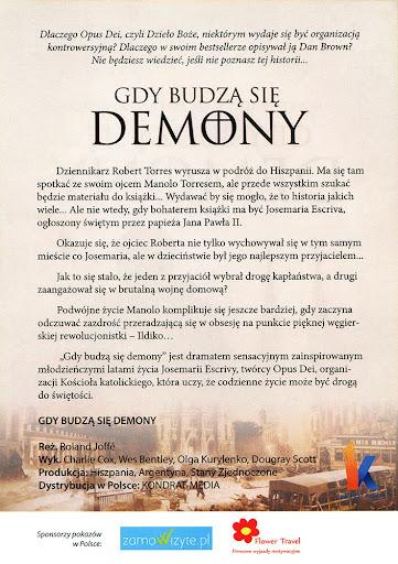 Tył ulotki filmu 'Gdy Budzą Się Demony'
