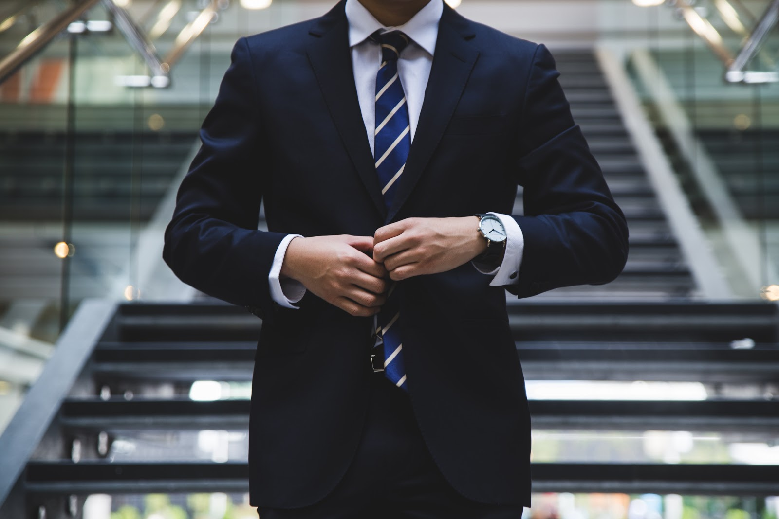 Person wearing a suit.