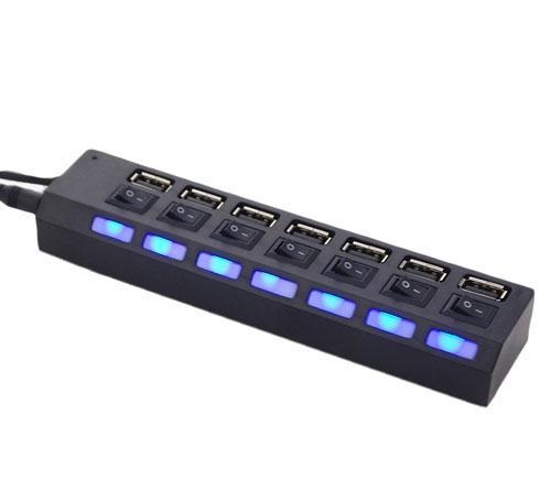 Hub USB 7 Ports en 1 LED Adaptateur USB Haute Vitesse USB 2.0 séparée Switch PC Ordinateur  Portable  www.avalonkef.com 4.jpg