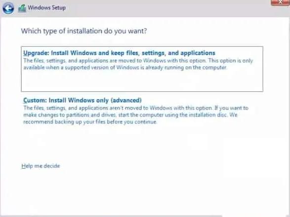 custom windows 10 install
