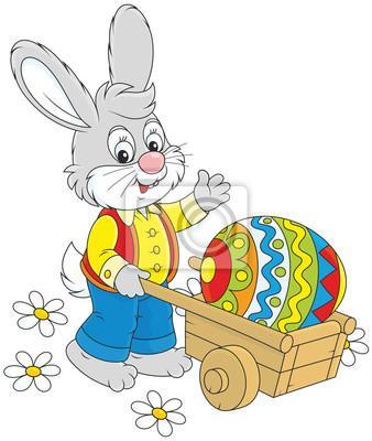 Naklejka Zajączek Wielkanocny na wymiar • ilustracja, rysunek, rysunek •  REDRO.pl