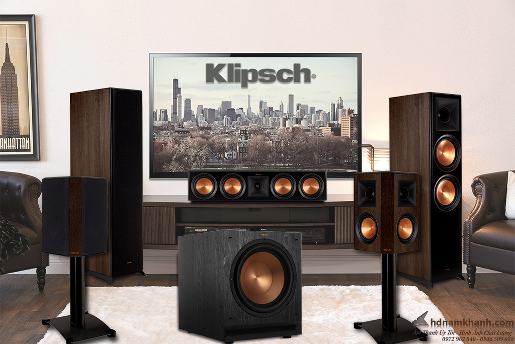 Bộ loa 5.1 Klipsch RP 8000F,bộ âm thanh 5.1 cao cấp trong phân khúc tầm trung cho gia đình
