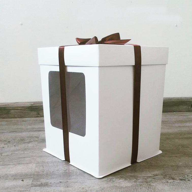 hộp đựng bánh 2 tầng thắt nơ