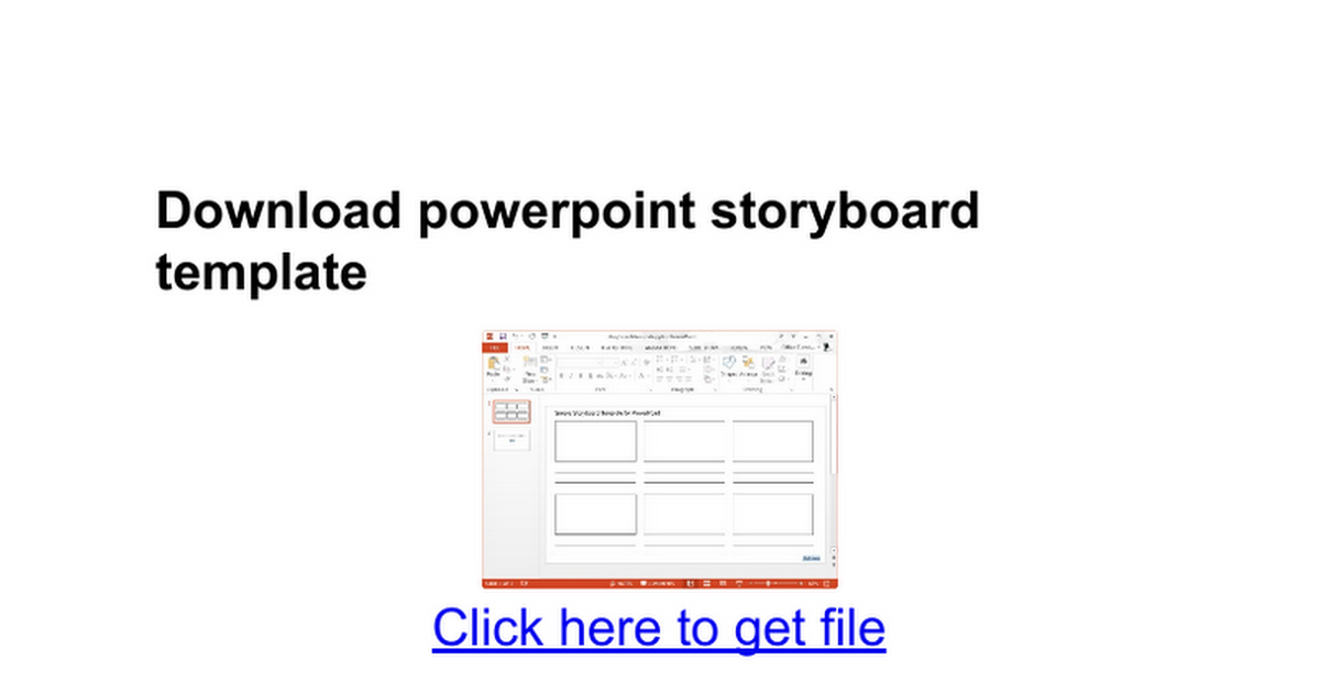 Download Powerpoint Storyboard Template Google Docs