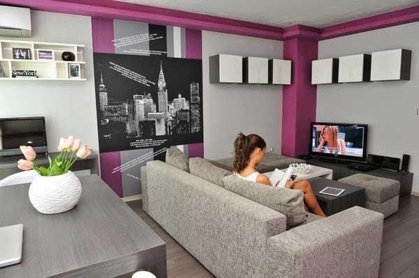 warna cat ruang tamu yang bagus dan cantik