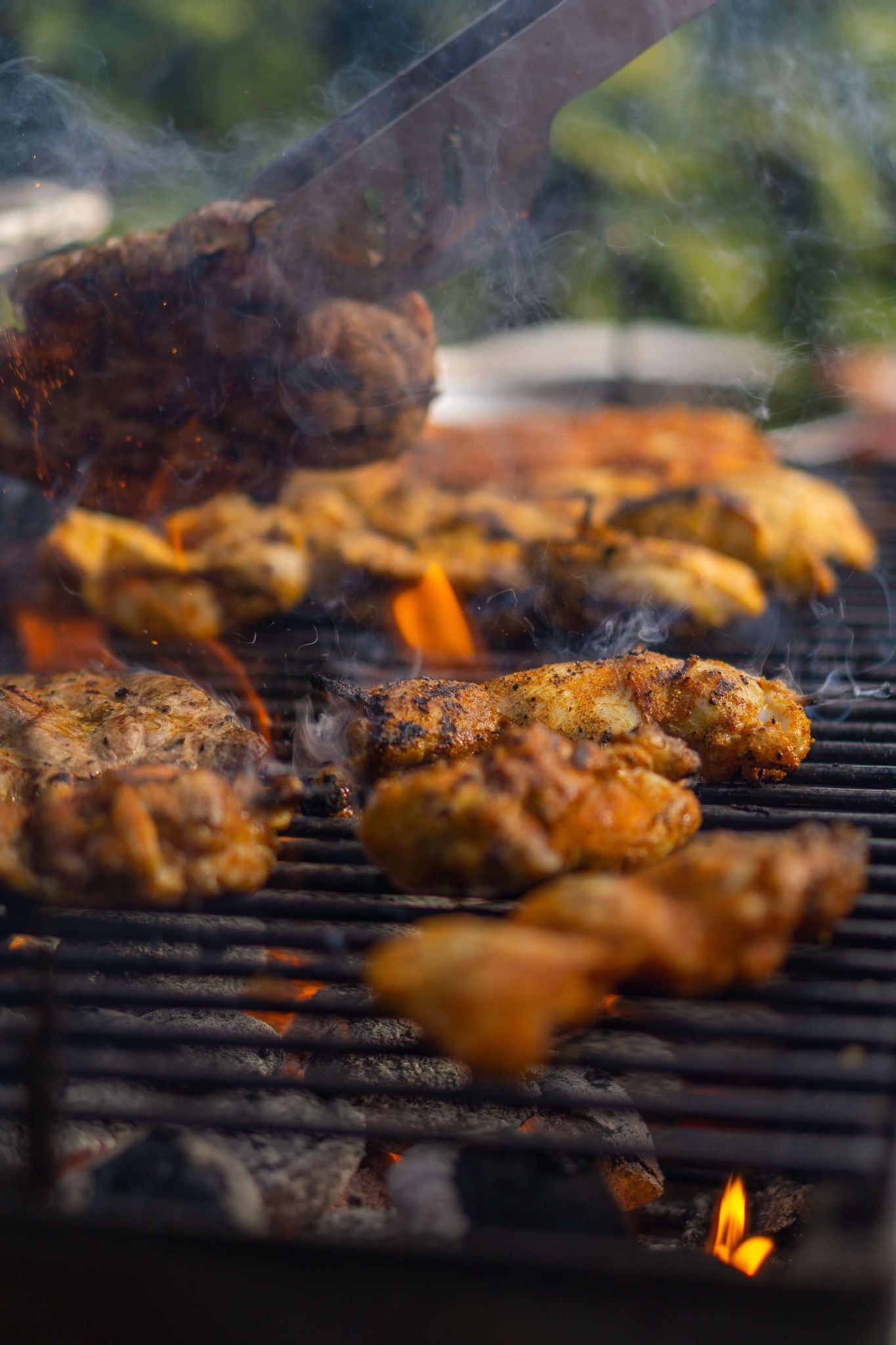 huli huli chicken, grilled chicken