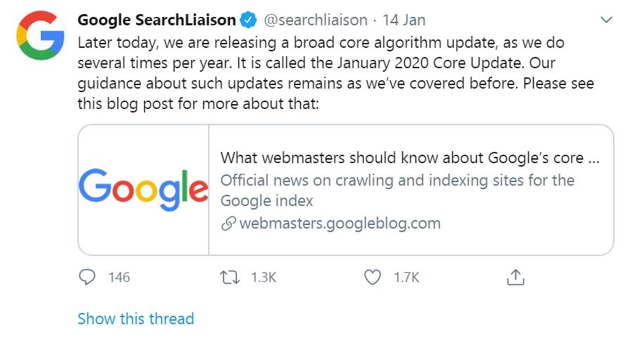 latest google algorithm update