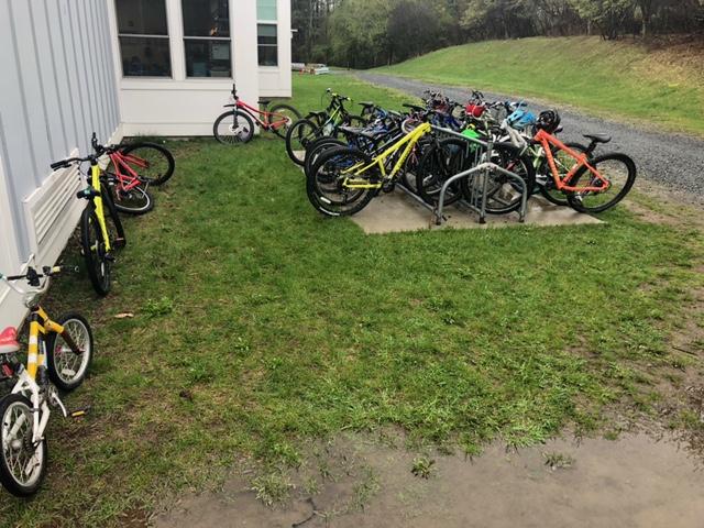 bikes in bike rack