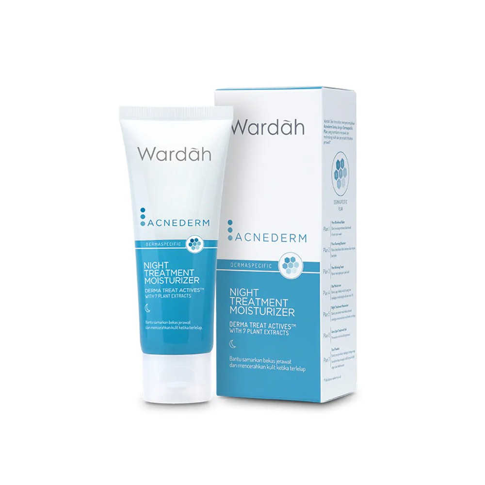 Wardah Acnederm Night Treatment Moisturizer