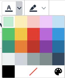 Color options menu