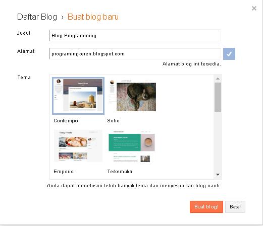 Cara Membuat Blog Yang Mudah Dengan Blogspot | Kursus Website ...