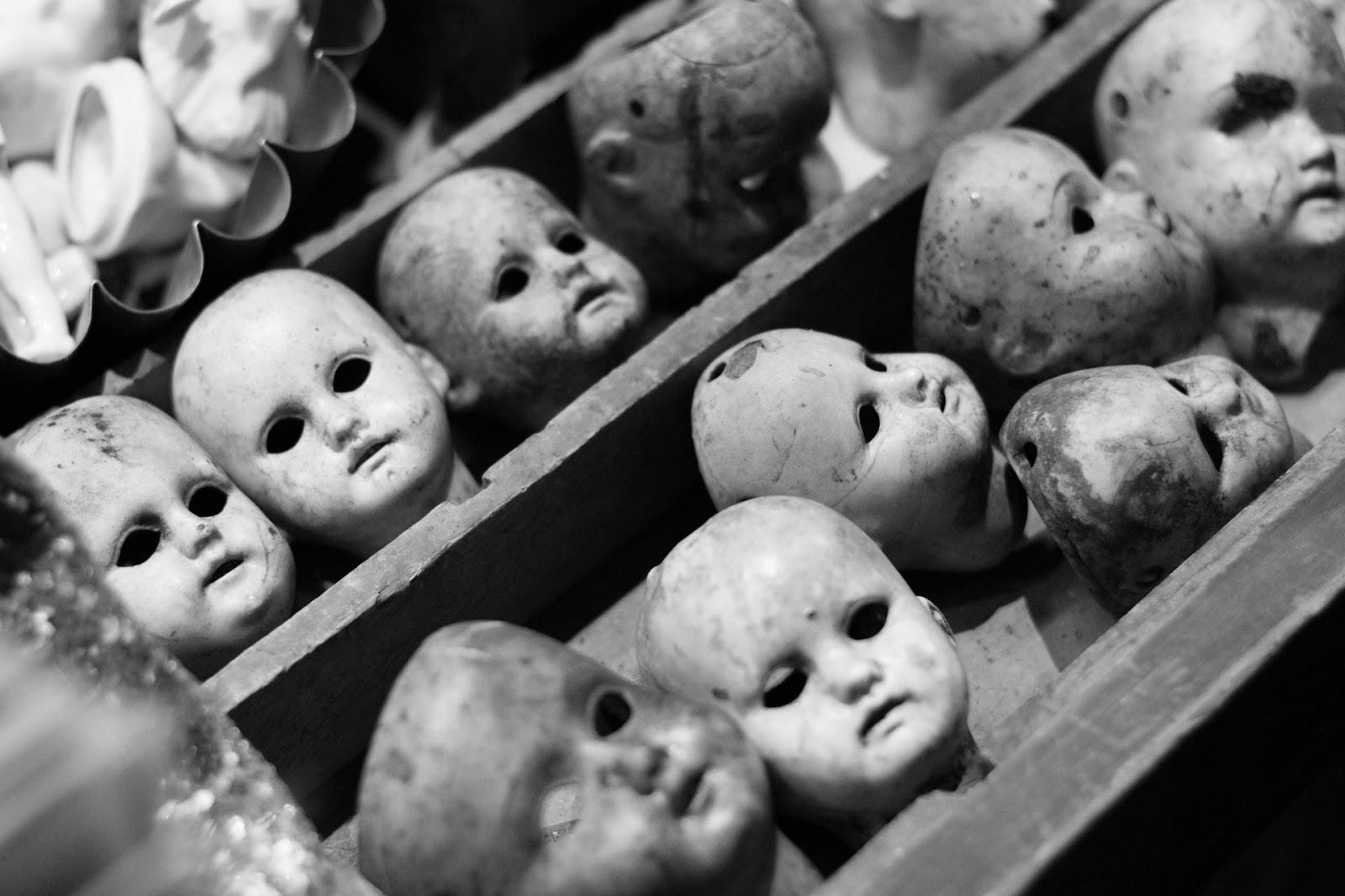 creepy doll heads