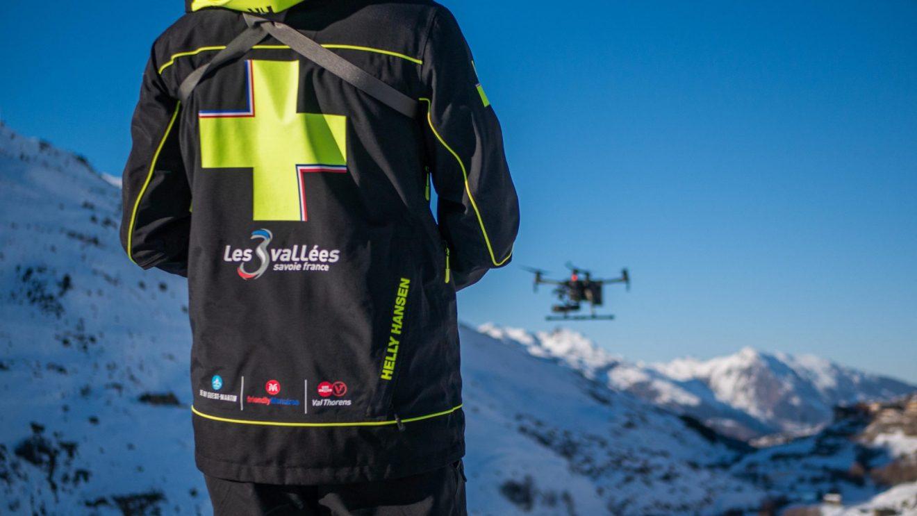 Piloto de drones en Val Thorens
