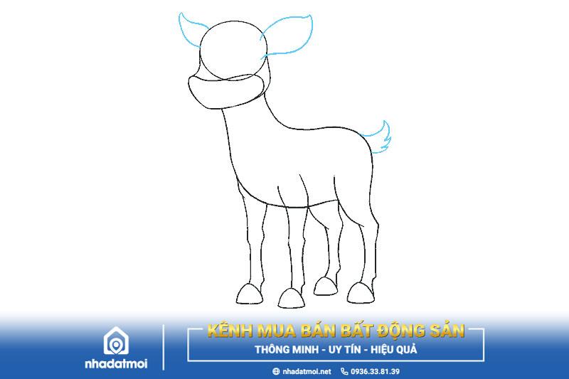Vẽ tai và đuôi tuần lộc