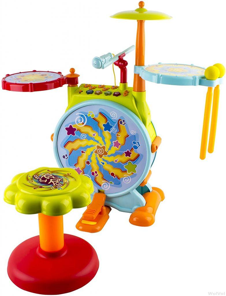 Wolvol Electronic Toy Drum Set