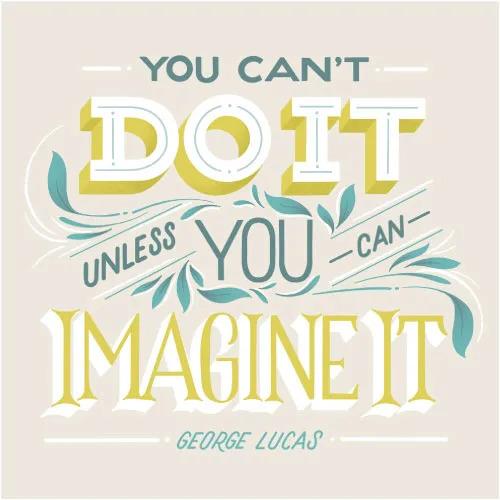 Inspirational art quote illustration by Skillshare teacher Gia Graham.