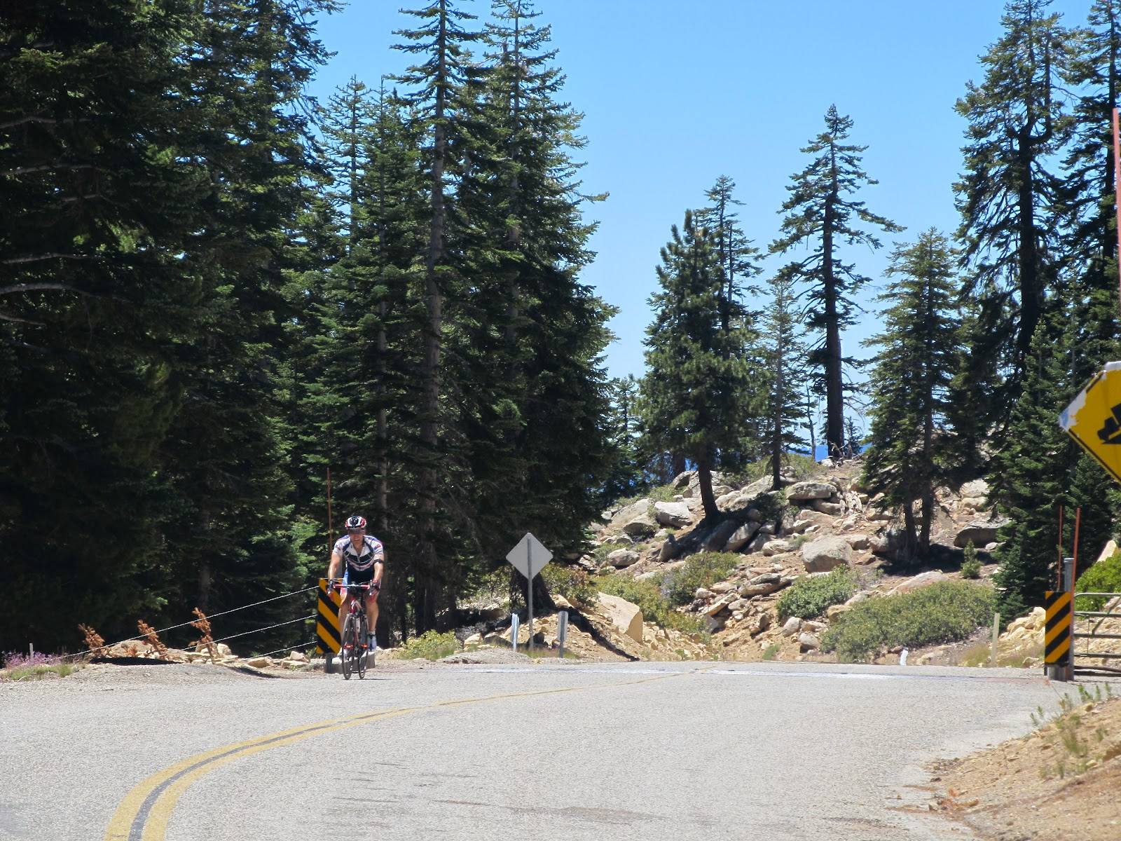 Bicycle climb of Sherman Pass, Sequoia National Forest.