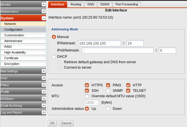 FortiMail IP Address