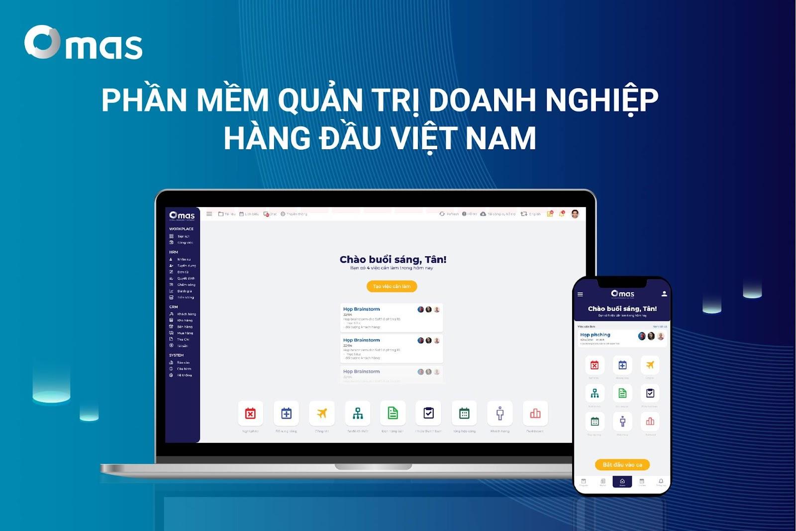 OMAS - phần mềm quản trị tổng thể doanh nghiệp