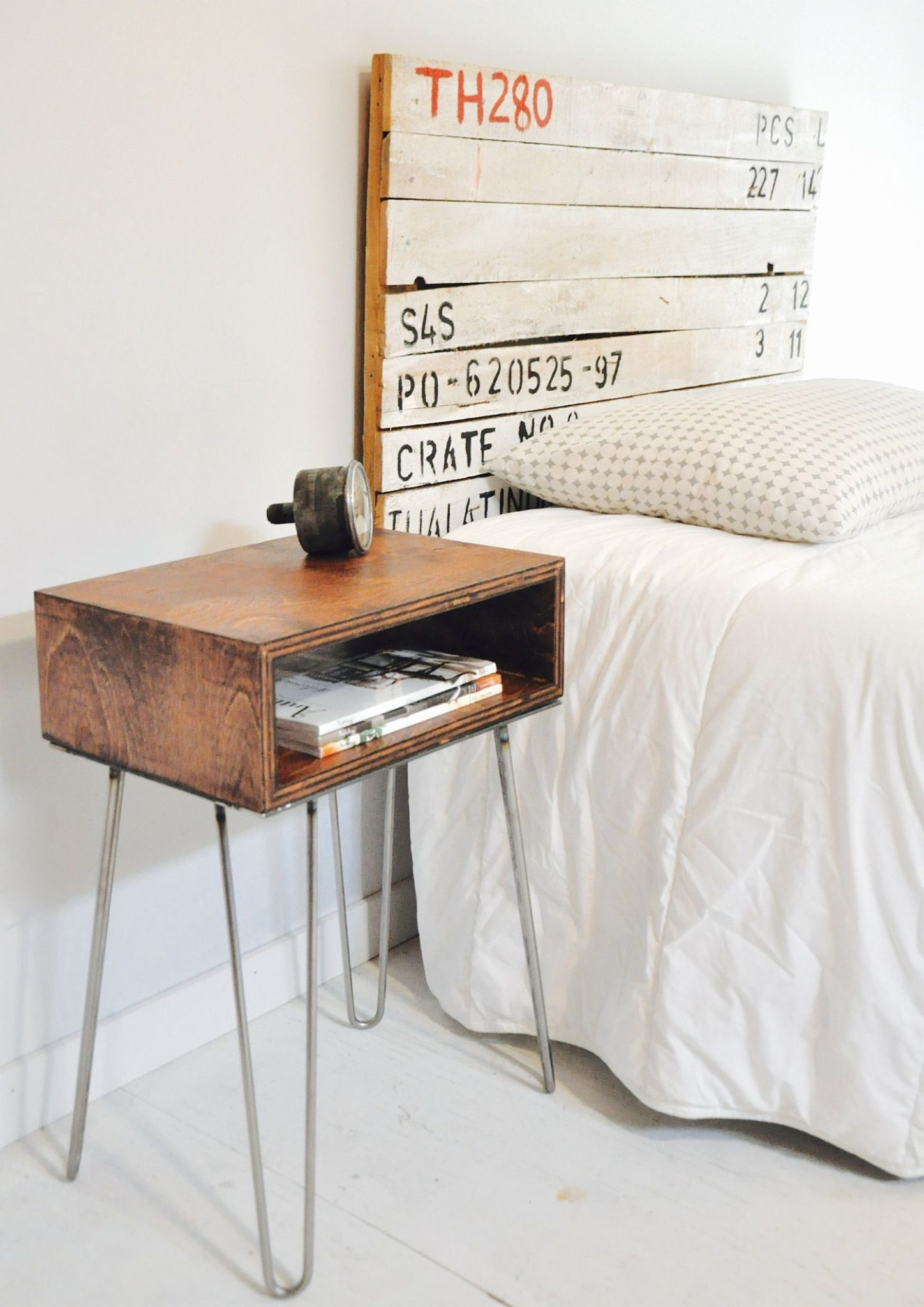 DIY Box-Style Bedside Table