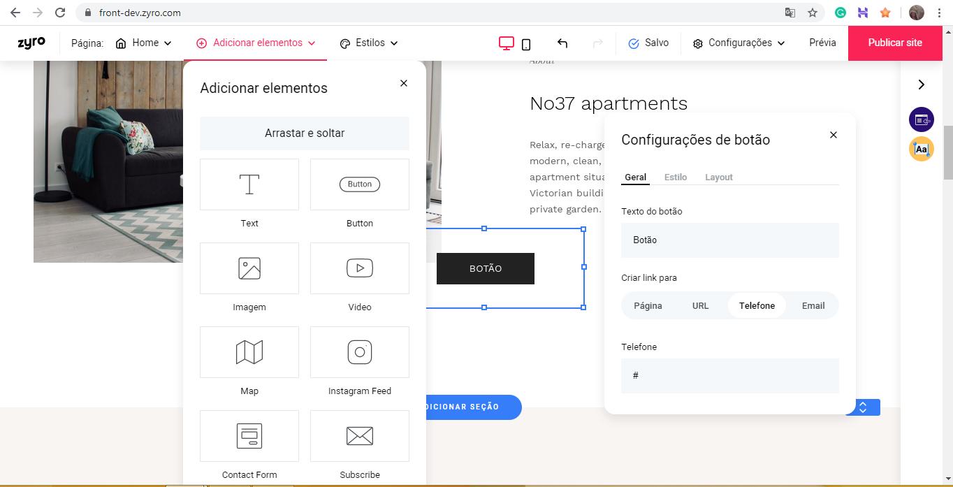 ferramenta de criação Zyro para aprender como criar uma landing page