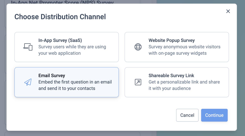 NPS survey setup 1.