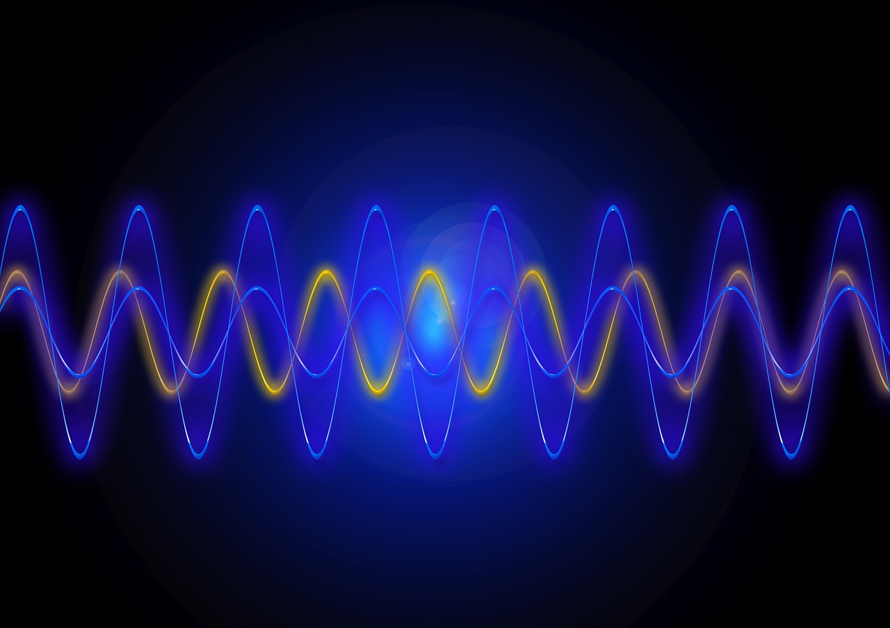 Sound waves are represented in this graphic illustration.