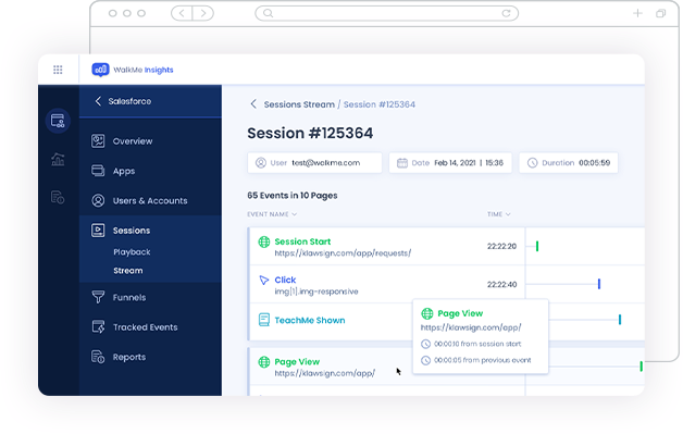 WalkMe Real-time View Into your Customer Journeys: WalkMe Salesforce Integration