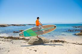 A person carrying a surfboard on a beach  Description automatically generated with medium confidence