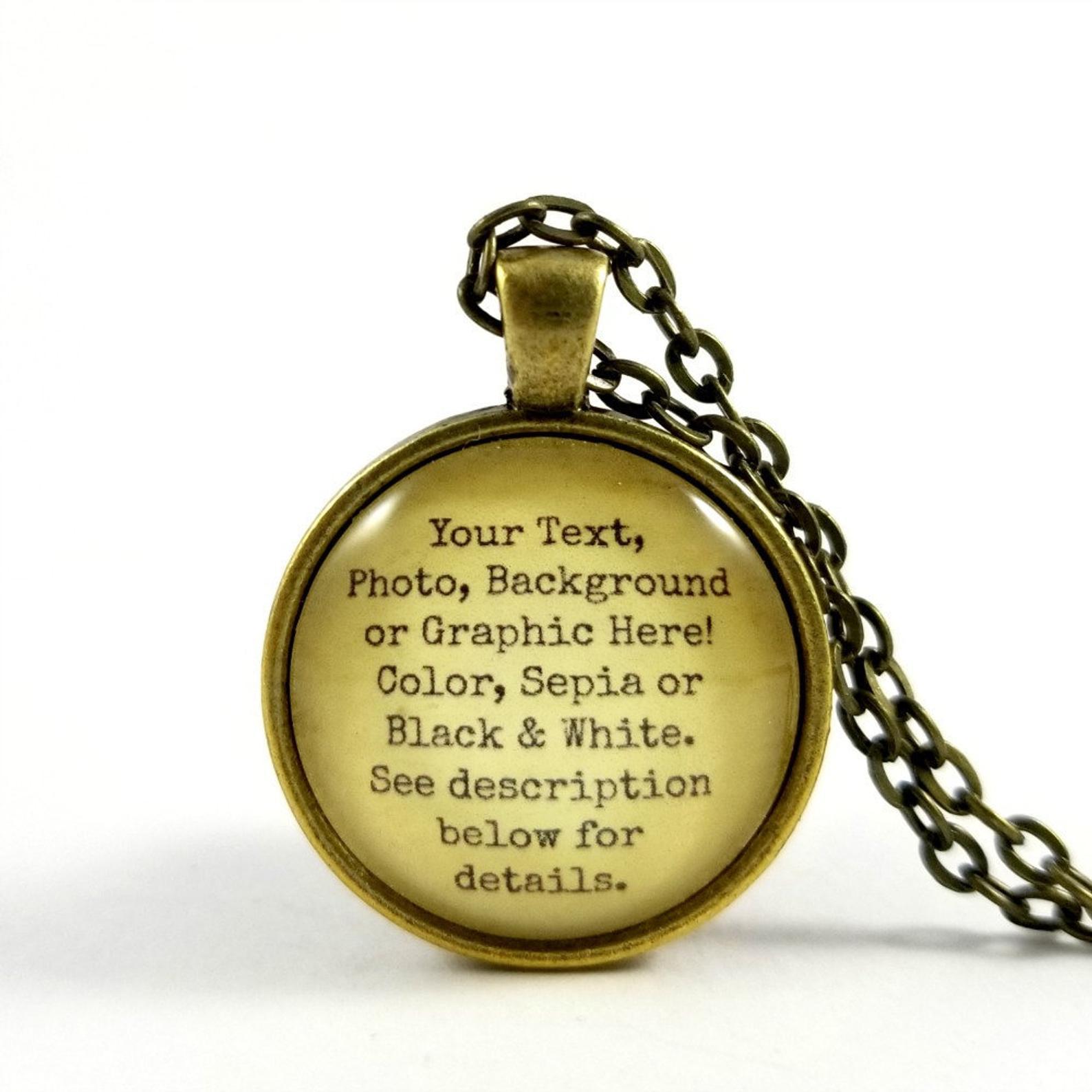 text pendant