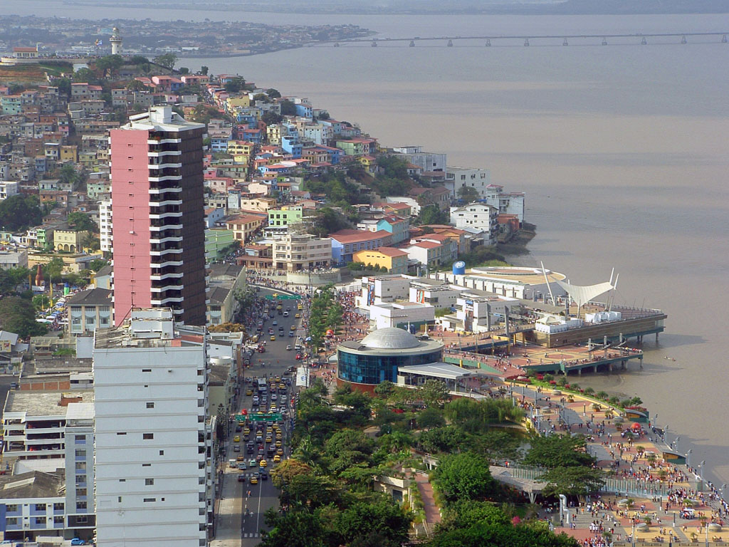 Dazzling waterfront Malecon 2000 Guayaquil