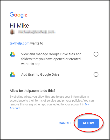 Google Accounts Allow Access