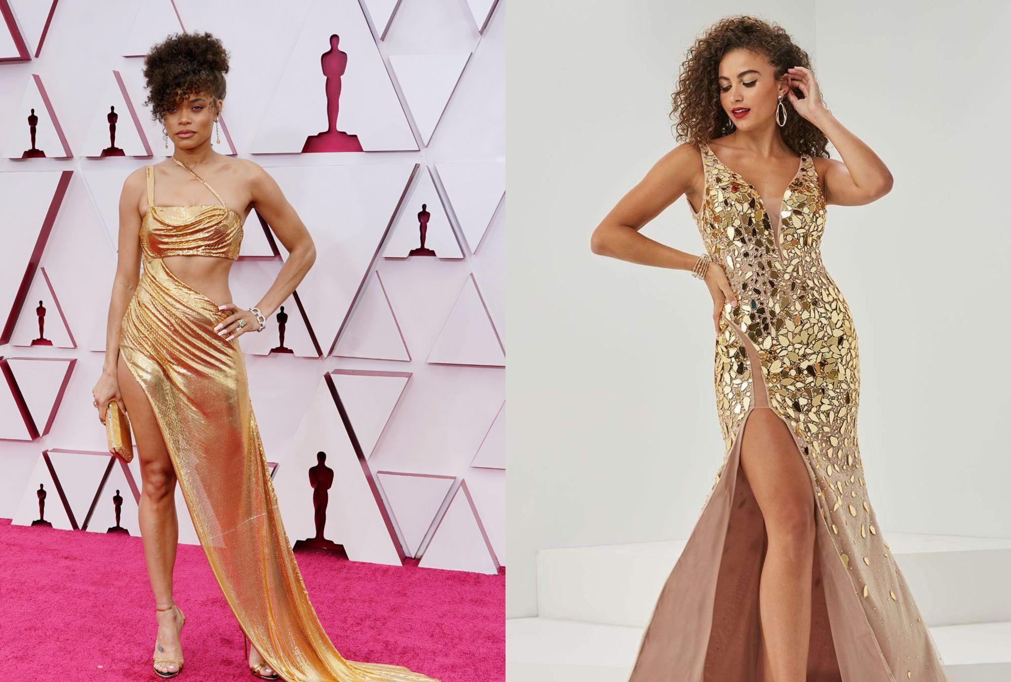 golden long prom dresses