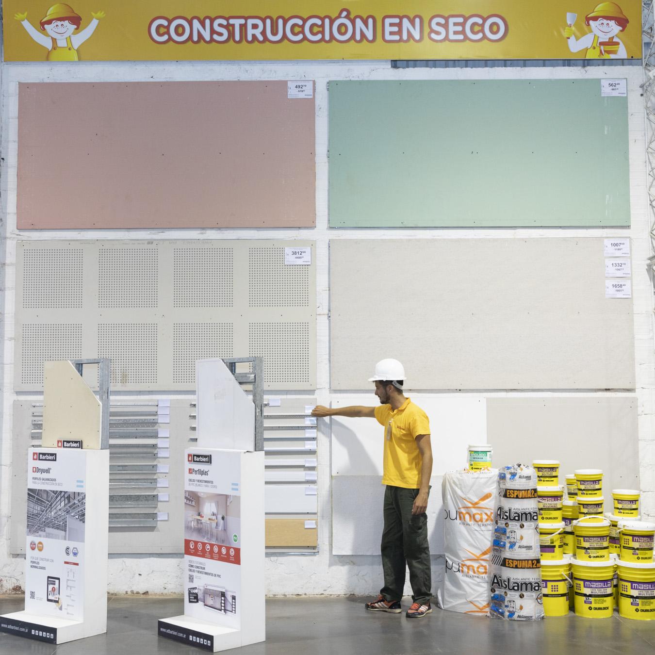 Construcción en seco: existen placas de varios colores