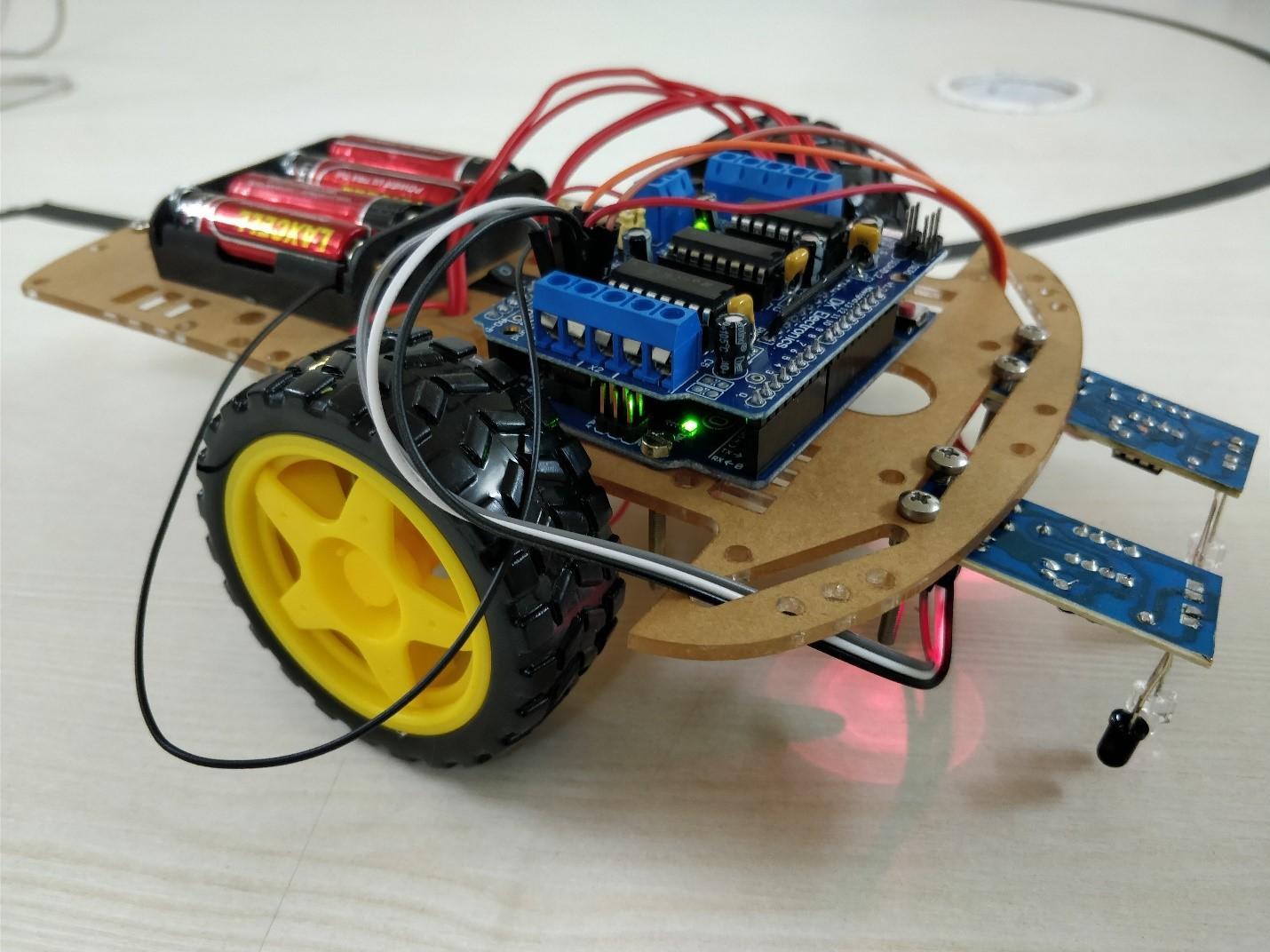 Assembled Line-Follower Bot