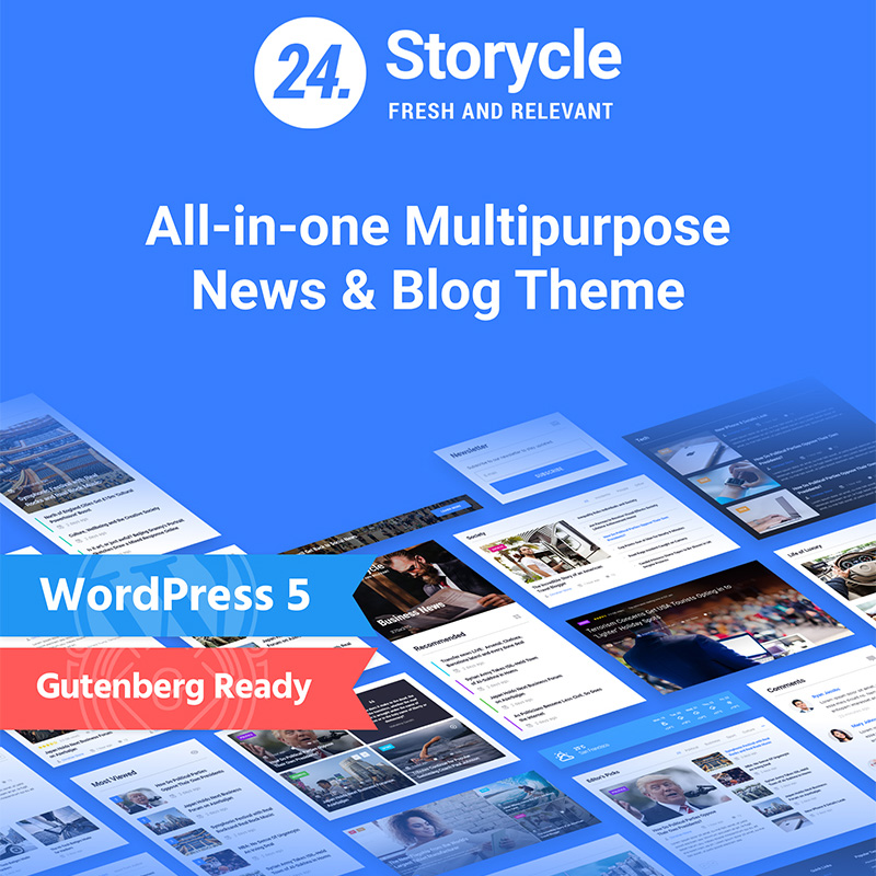 Storycle - Multipurpose News Portal Elementor WordPress Theme