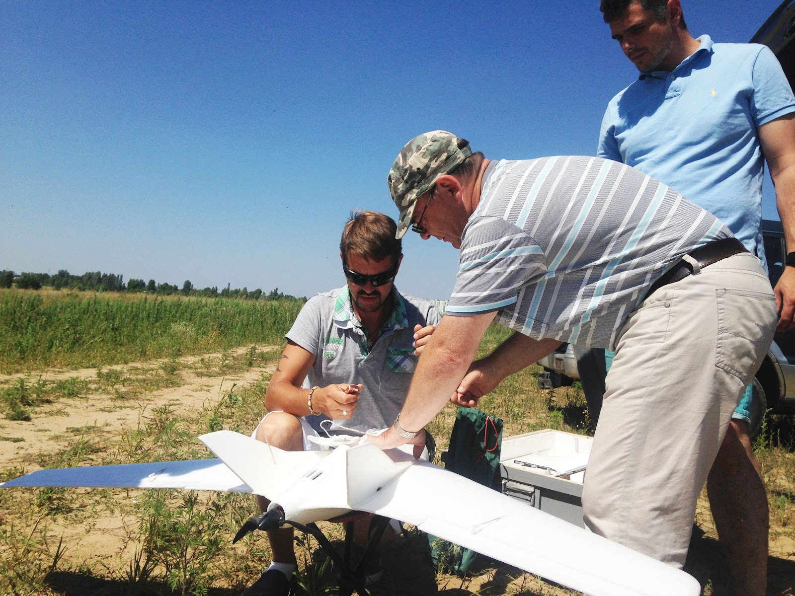 After training the UAV was delivered to Ukrainian forces at the front