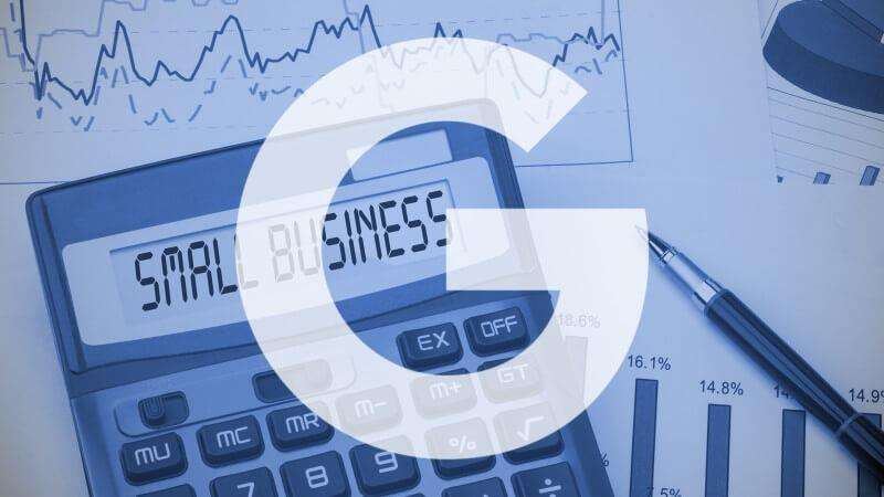google business with calculator in background