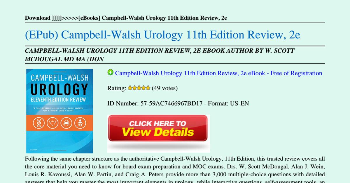 campbellwalsh urology review