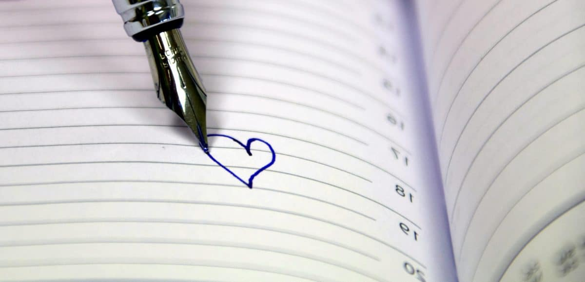 notebook heart