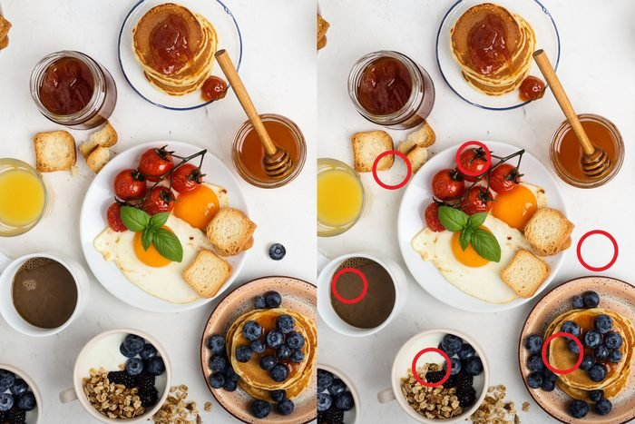Spot the difference: Breakfast Fit For a King answer