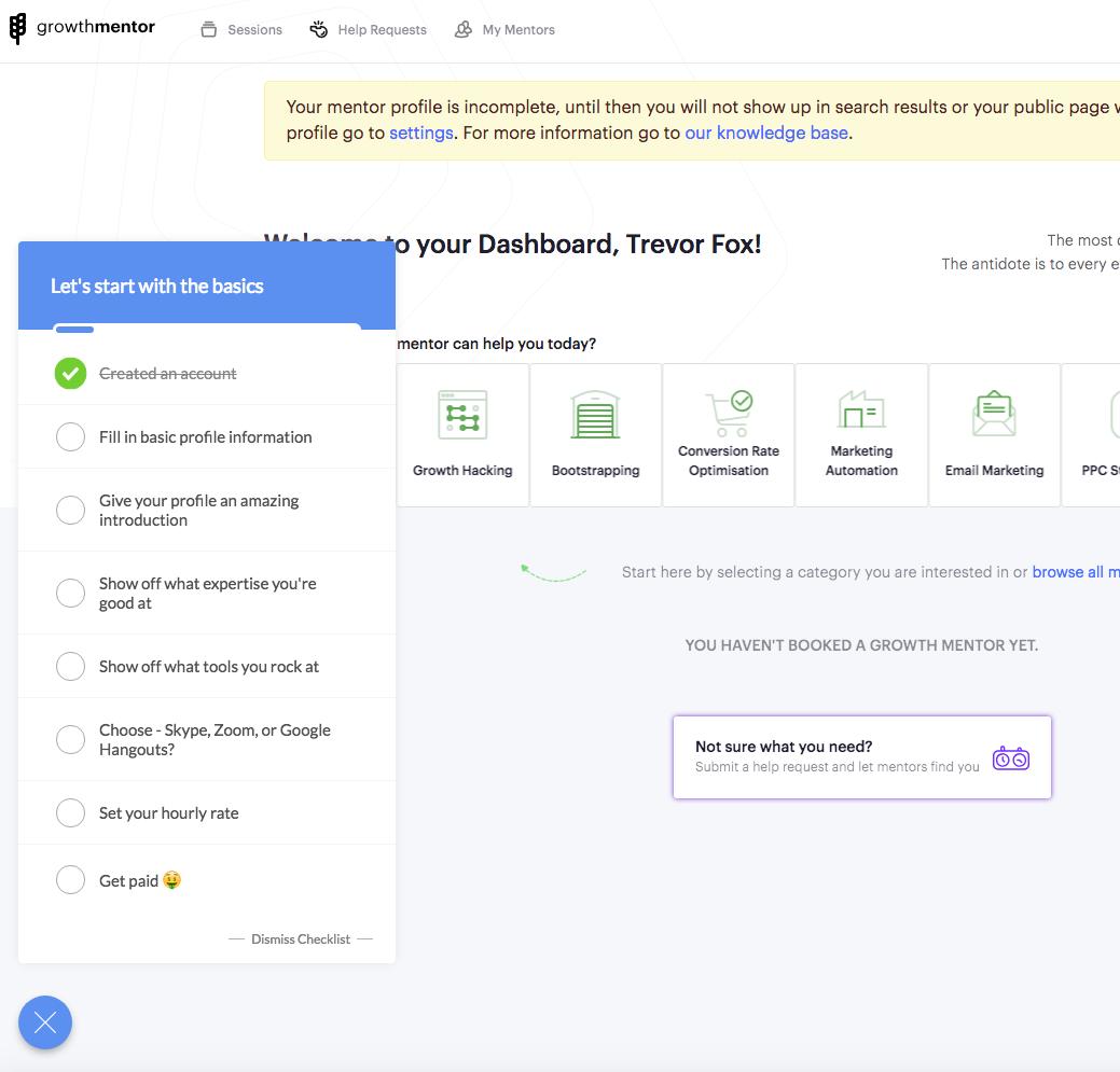 growth mentor screenshot